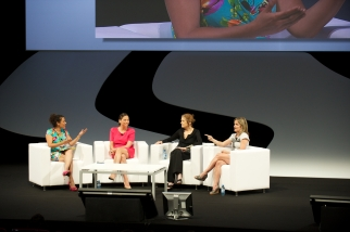 A Makers panel at Cannes on Sunday, moderated by Mariane Pearl and including AOL's Maureen Sullivan, Ms. Magazine co-founder Gloria Steinem and Dyllan McGee, Makers founder and executive producer