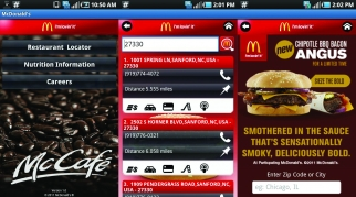 Can you feed me now? McDonald's mobile app.