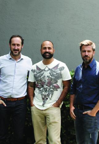 (From l.) Miquel Daura, Sebastian Arrechedera, Juan Claverol