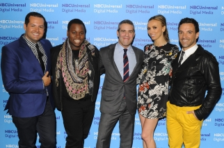 Ross Mathews of E!'s 'Chelsea Lately'; Alex Newell of 'The Glee Project'; Andy Cohen, exec VP for development and talent at Bravo; Giuliana Rancic of Style's 'Giuliana and Bill; and George Kotsiopoulous of E!'s 'Fashion Police'