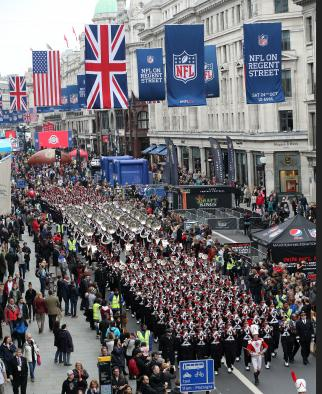 The NFL on London's Regent Street.