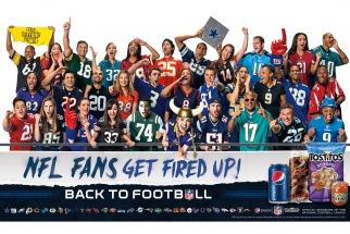 Pepsi's NFL-themed point-of-sale ad.