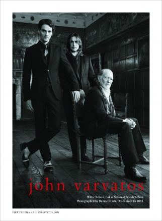 John Varvatos ad campaign starring Willie Nelson