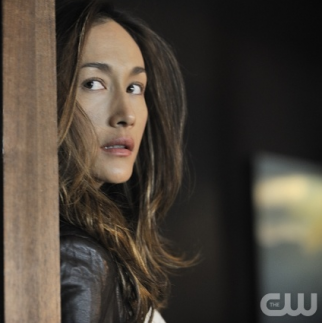 Maggie Q as the title character on 'Nikita,' whose fans pushed it ahead of 'Big Bang Theory' for check-ins