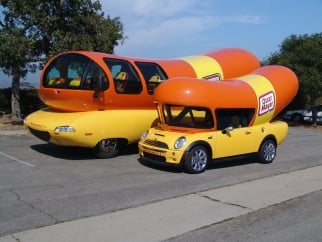 There are six Wienermobiles, plus a Mini one.