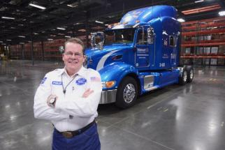 Walmart gave driver Philip Null a new tractor to use last year when he reached 3 million miles of safe driving.