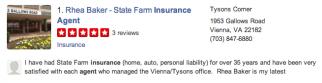 Figure: Yelp Listing for