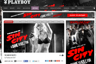 Dimension Films sponsored a 'listicle' on Playboy.com to promote its new 'Sin City' release.