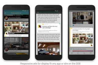 Responsive ads for display.