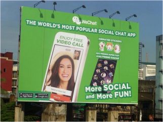 A WeChat ad in the Philippines