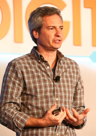 Seth Farbman, CMO of GAP, speaks to the crowd at the Ad Age Digital Conference Tuesday morning in New York.