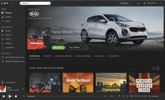 A Kia-sponsored playlist on desktop.