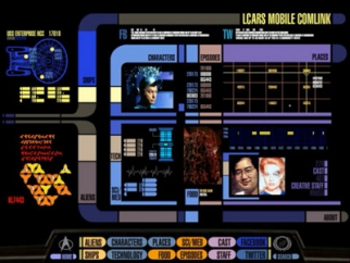 The Star Trek PADD app for the iPad