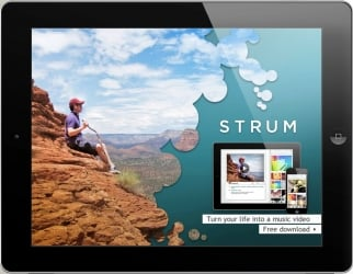 Ad for Smule's new app, Strum