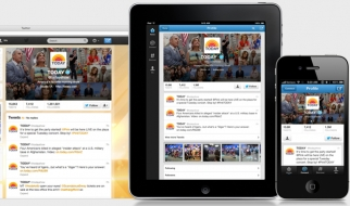 Today Show's revamped Twitter page.