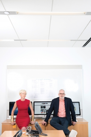 Cosmo editor Joanna Coles (l.) says Troy Young (r.) has