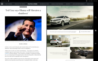 The Washington Post's new tablet app.