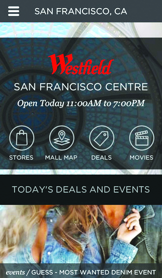 Westfield is exploring ways to engage consumers with its app, which launch last summer, before and after they shop.