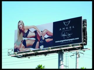A billboard singled out for criticism in Badger & Winters' 'What Our Kids See' video