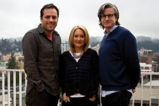 From left: Co-Global ECD Mark Fitzloff, Portland ECD Susan Hoffman, Portland MD Tom Blessington
