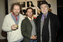 From left: Figgis with designer Andy Spade and GQ's style guy Glenn O'Brien