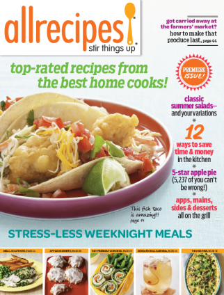 A test issue of the new Allrecipes print edition