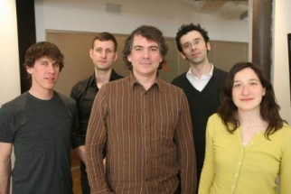 area/code from left: Dennis Crowley, Kevin Cancienne, Frank Lantz, Kevin Slavin, Kati London