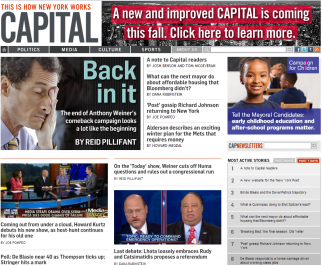 Capital New York on Monday morning, promising readers improvements to come