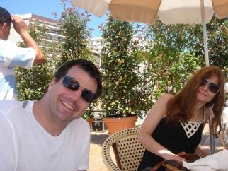 BBDO/N.Y.'s Mike Smith and Creativity's Teressa Iezzi at the Carlton Beach