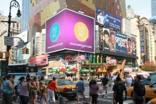 CBS Outdoor digital signs in Time Square.