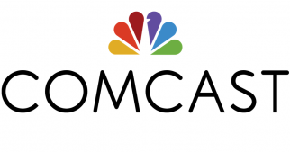 The NBC peacock has joined the parent company's logo.