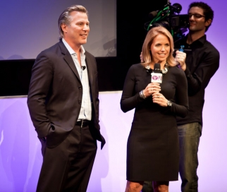 Ross Levinsohn with Katie Couric at Yahoo's 'upfront' presentation for advertisers.