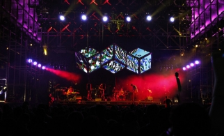 Animal Collective on Coachella main stage designed by Black Dice and United Visual Artists