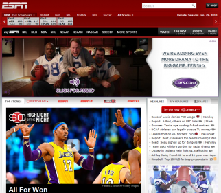 Google won overall, but advertisers ranked ESPN's website ahead of digital natives' content sites for brand strength.