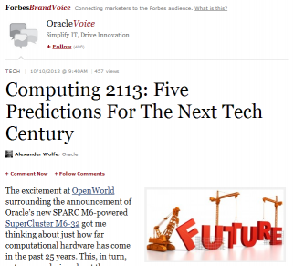 A Forbes.com sponsored post by Oracle
