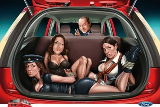 A scam ad for Ford Figo in India -- although Ford, of course, never approved it