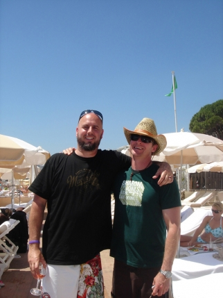 Goodby's Mike Geiger and Ronny Northrop at the Carlton beach