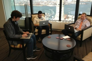 Hill Holliday's digital team working on The One Fund: Michael Walton, Kyle Ridolfo, and John Running, senior VP-technology and innovation.