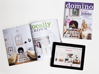 Domino returns as a website and quarterly print magazine.
