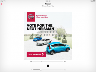 Nissan ad on iTunes Radio