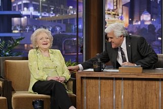Betty White and Jay Leno on 'The Tonight Show.'