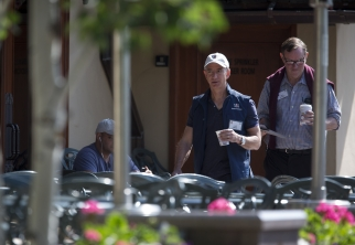 Jeff Bezos at the annual, exclusive Sun Valley media business conclave