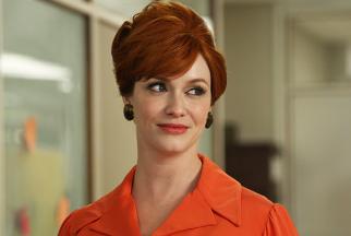 Joan Harris (Christina Hendricks) in the season-six finale of 'Mad Men'