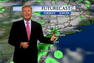 Sunny outlook: BBDO New York President-CEO John Osborn tries being a weatherman.
