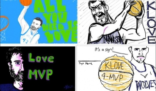 User-generated Kevin Love drawing on Doodle.ly