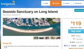 A LivingSocial deal for a getaway on Long Island.