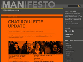 French Connection's Manifesto website