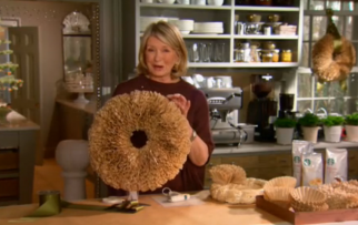 Martha Stewart Demonstrates How To Make A Coffee Filter Christmas Wreath In  A Recent Web