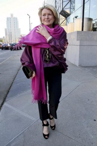 Martha Stewart arrives at the Robin Hood Foundation fundraising gala in New York.