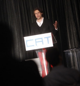 Hyper Island's Mattias Hansson, speaking at Creativity's CAT conference